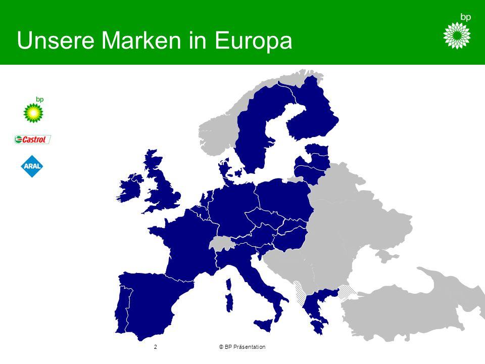 © BP Präsentation2 Unsere Marken in Europa