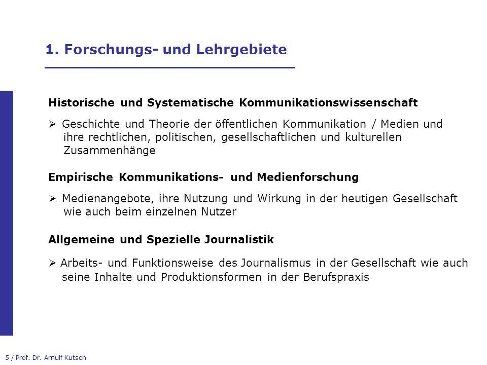 16 / Prof.Dr. Arnulf Kutsch 3. B.A.