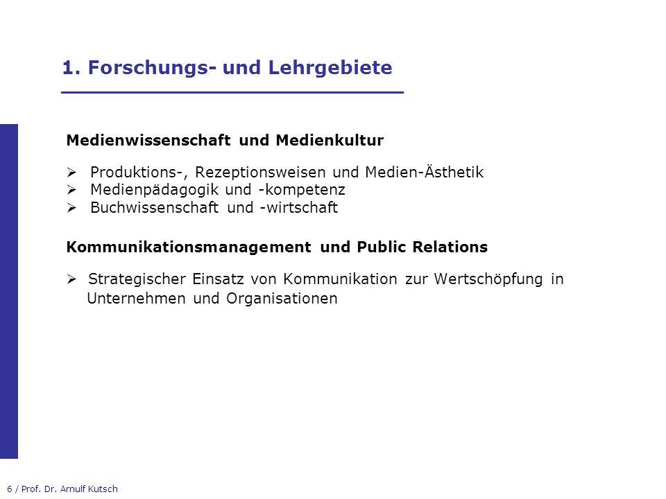 17 / Prof.Dr. Arnulf Kutsch 3. B.A.