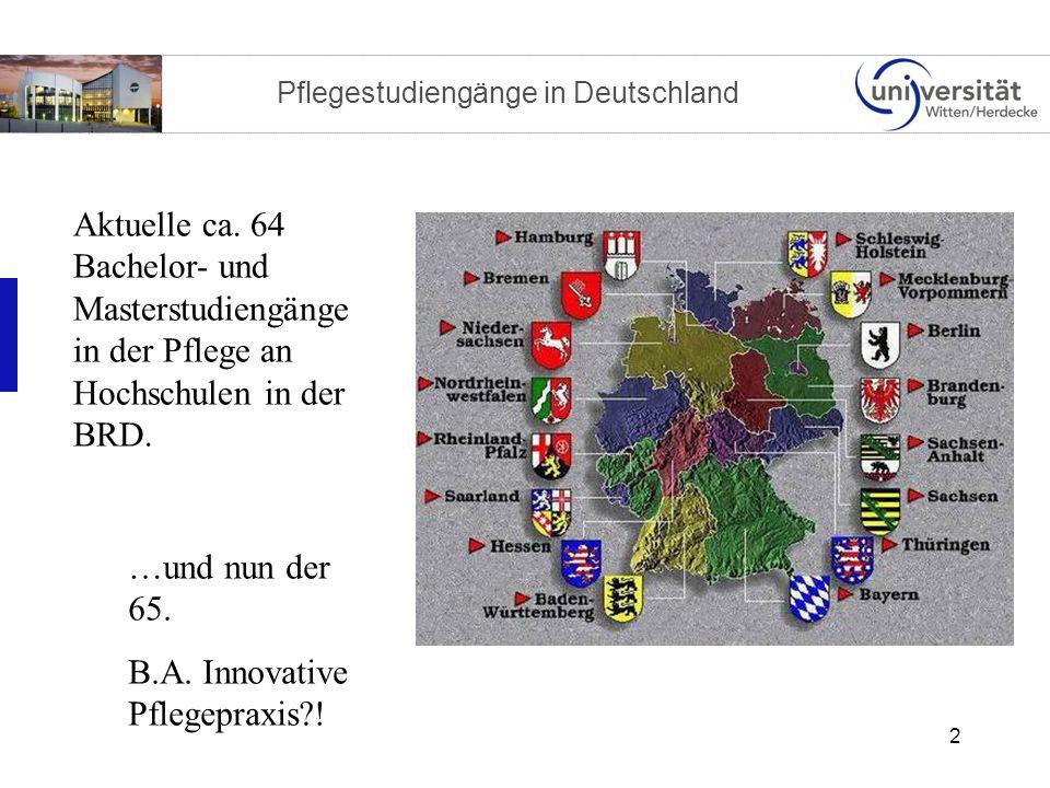 2 Pflegestudiengänge in Deutschland Aktuelle ca.
