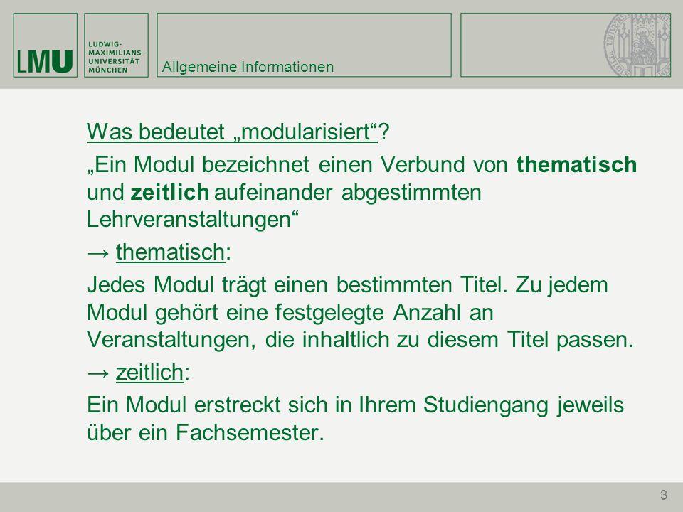 3 Allgemeine Informationen Was bedeutet modularisiert.