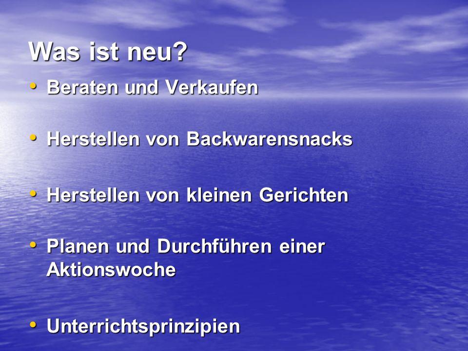 Die Lernfelder Die Lernfelder 1.Jahr, Grundstufe 1.