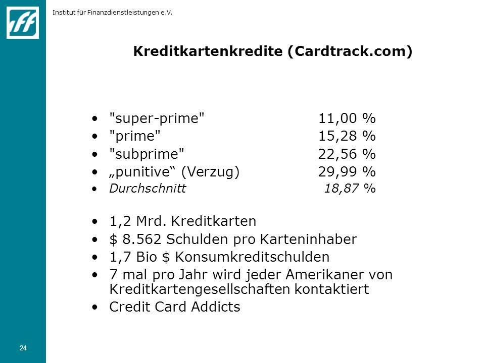 Institut für Finanzdienstleistungen e.V. 24 Kreditkartenkredite (Cardtrack.com)
