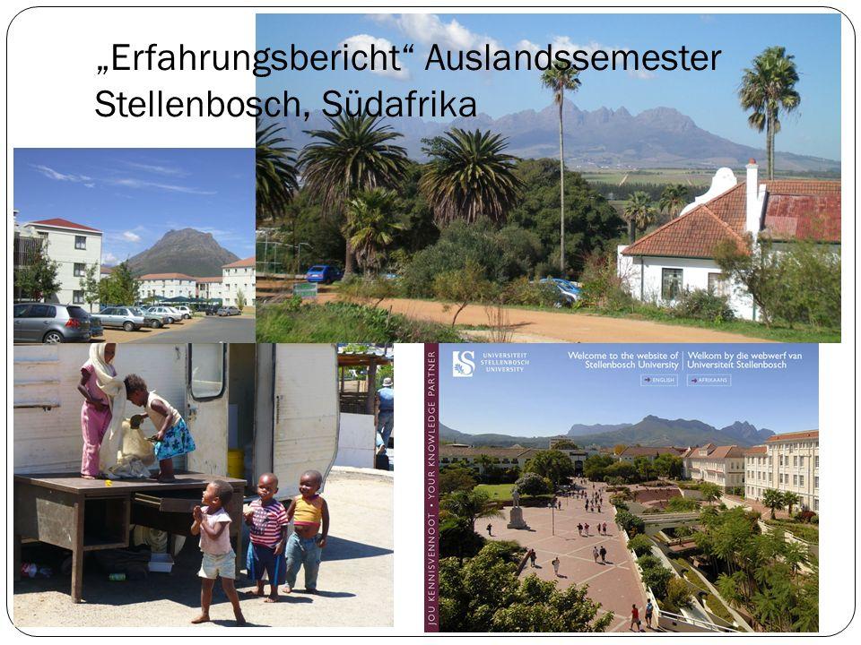 Erfahrungsbericht Auslandssemester Stellenbosch, Südafrika