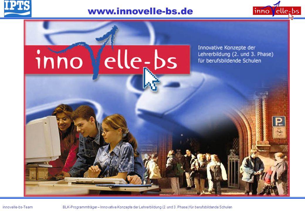 www.innovelle-bs.de innovelle-bs-Team BLK-Programmträger – Innovative Konzepte der Lehrerbildung (2. und 3. Phase) für berufsbildende Schulen