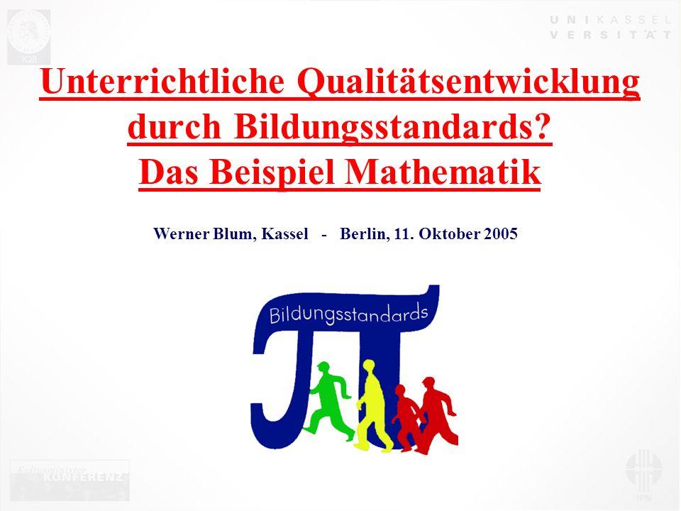 Unterrichtliche Qualitätsentwicklung durch Bildungsstandards.