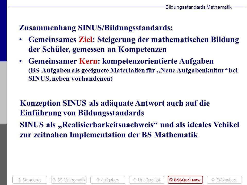 Bildungsstandards Mathematik Aufgaben BS Mathematik BS&Qual.entw.