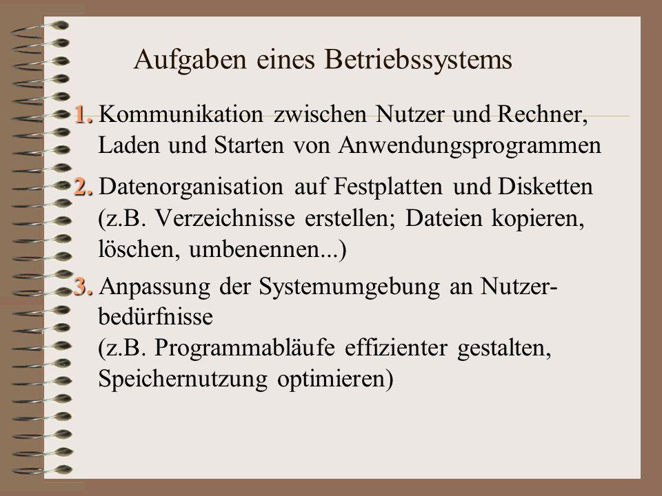Aufgaben eines Betriebssystems 1.1.