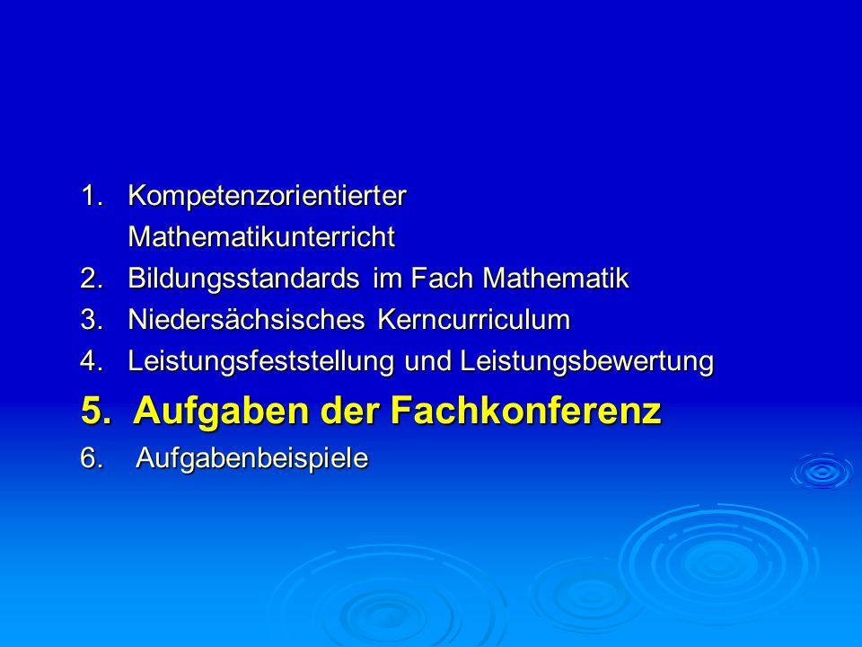 1. Kompetenzorientierter Mathematikunterricht Mathematikunterricht 2. Bildungsstandards im Fach Mathematik 3. Niedersächsisches Kerncurriculum 4. Leis
