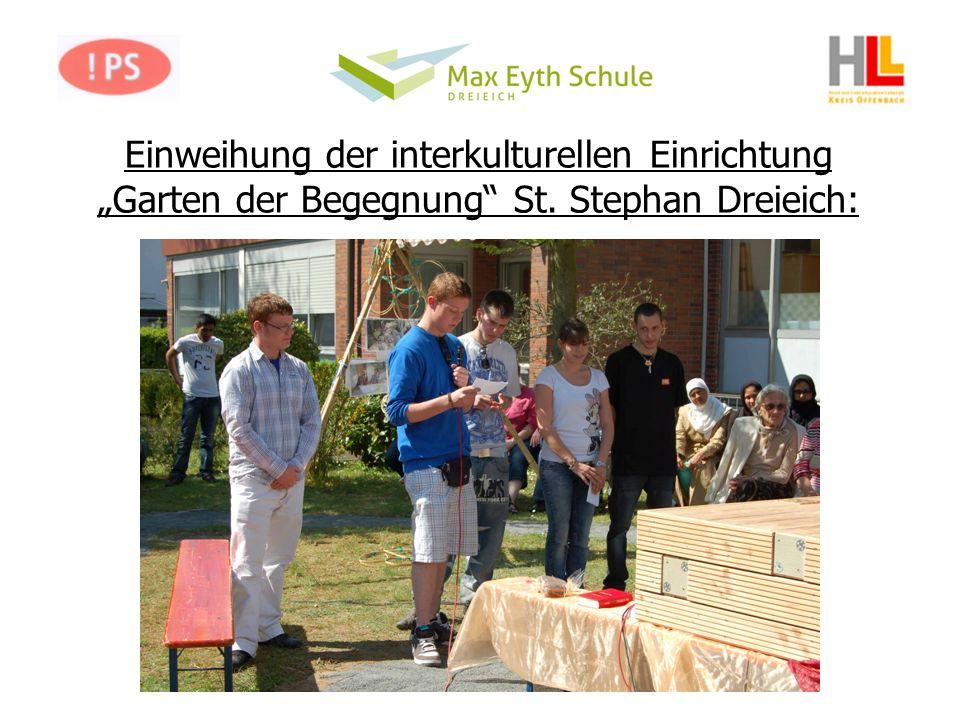 Einweihung der interkulturellen Einrichtung Garten der Begegnung St. Stephan Dreieich: