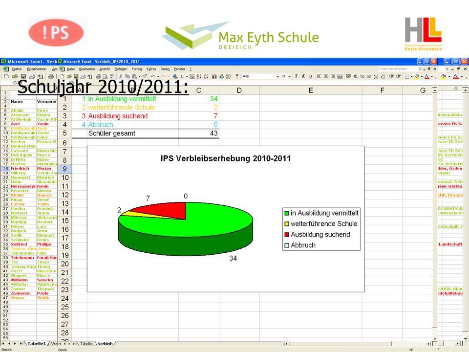 Schuljahr 2010/2011: