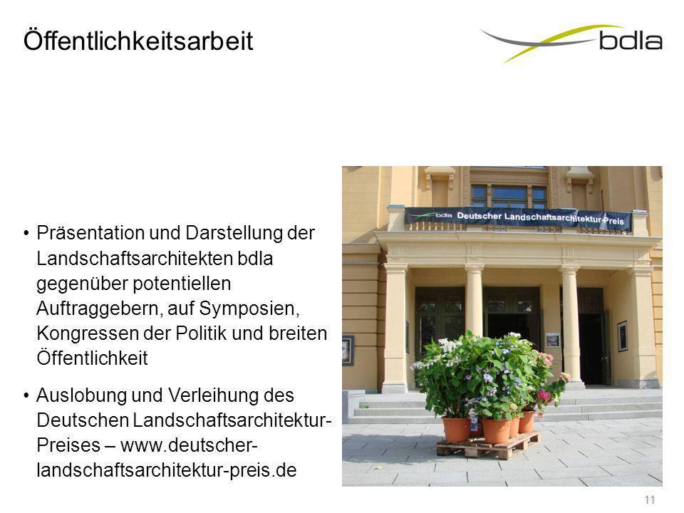 Netzwerk EFLA, European Foundation for Landscape Architecture FLL, Forschungsgesellschaft Landschaftsentwicklung, Landschaftsbau e.V. Förderverein Bun
