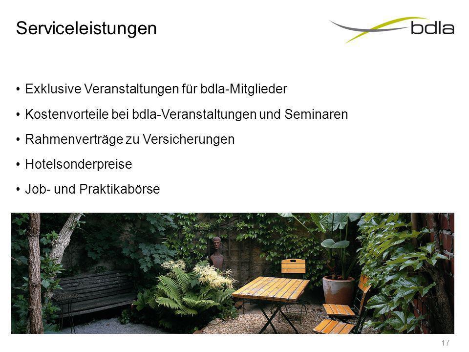 Serviceleistungen Verbandszeitschrift Landschaftsarchitekten und Landschaftsarchitekten Handbuch bdla - Newsletter Bereitstellung von Informationsmate