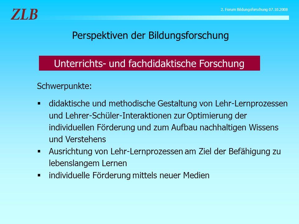 Schwerpunkte: didaktische und methodische Gestaltung von Lehr-Lernprozessen und Lehrer-Schüler-Interaktionen zur Optimierung der individuellen Förderu
