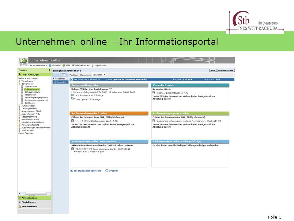 Folie 3 Ihr Logo Unternehmen online – Ihr Informationsportal