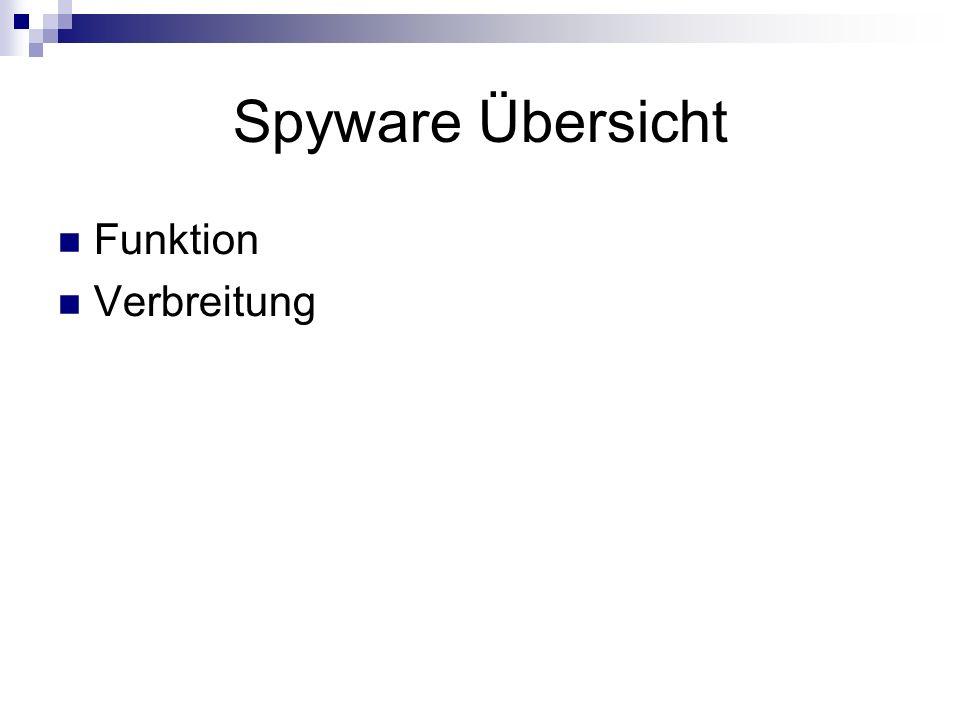 Spyware Übersicht Funktion Verbreitung