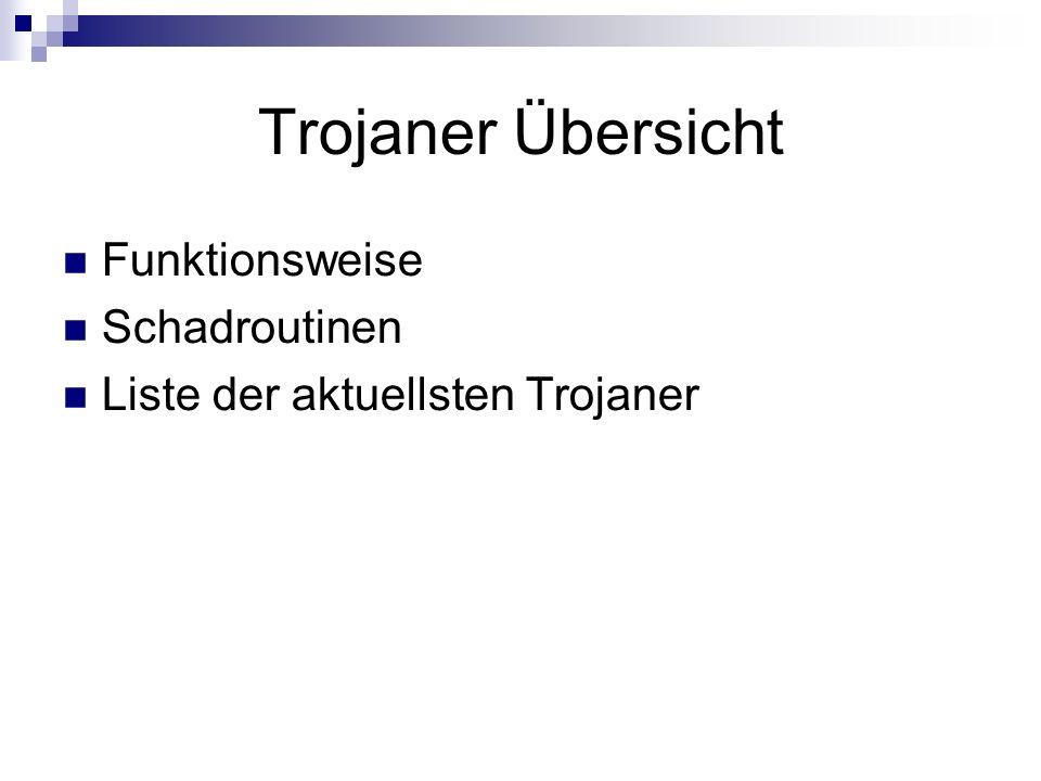 Trojaner Übersicht Funktionsweise Schadroutinen Liste der aktuellsten Trojaner