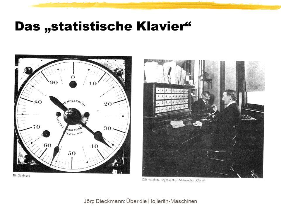 Jörg Dieckmann: Über die Hollerith-Maschinen Das statistische Klavier