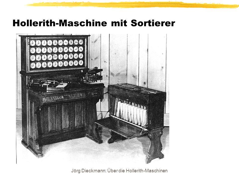 Jörg Dieckmann: Über die Hollerith-Maschinen Hollerith-Maschine mit Sortierer