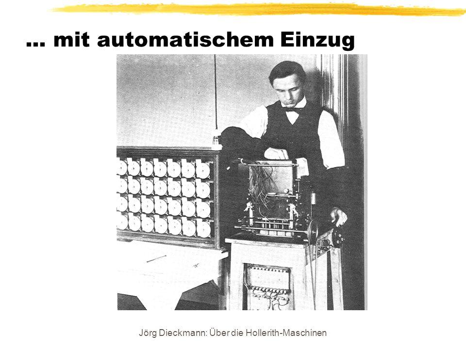 Jörg Dieckmann: Über die Hollerith-Maschinen... mit automatischem Einzug