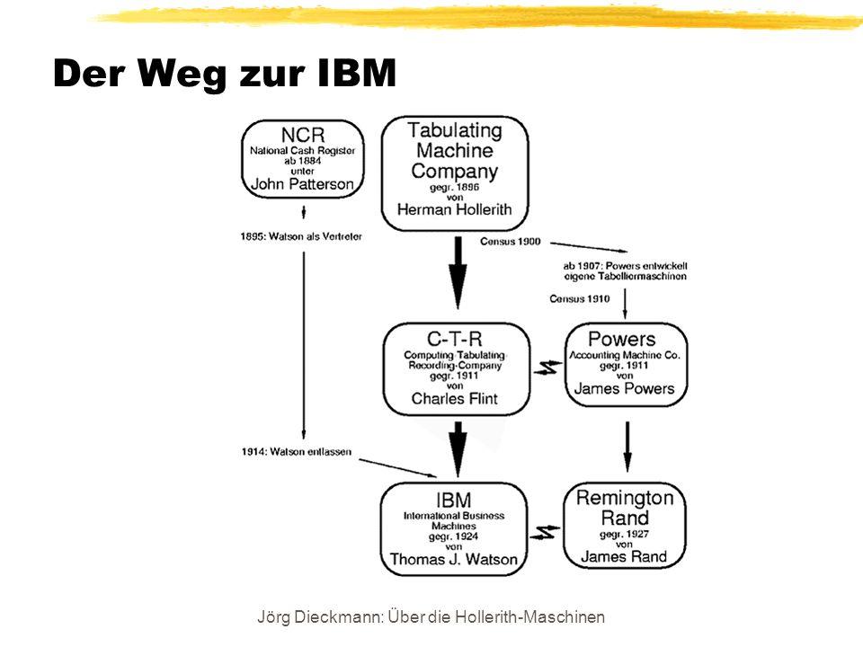 Jörg Dieckmann: Über die Hollerith-Maschinen Der Weg zur IBM