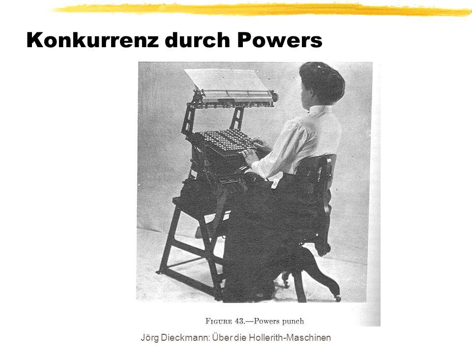 Jörg Dieckmann: Über die Hollerith-Maschinen Konkurrenz durch Powers