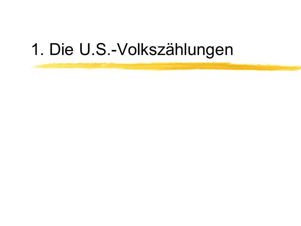 1. Die U.S.-Volkszählungen