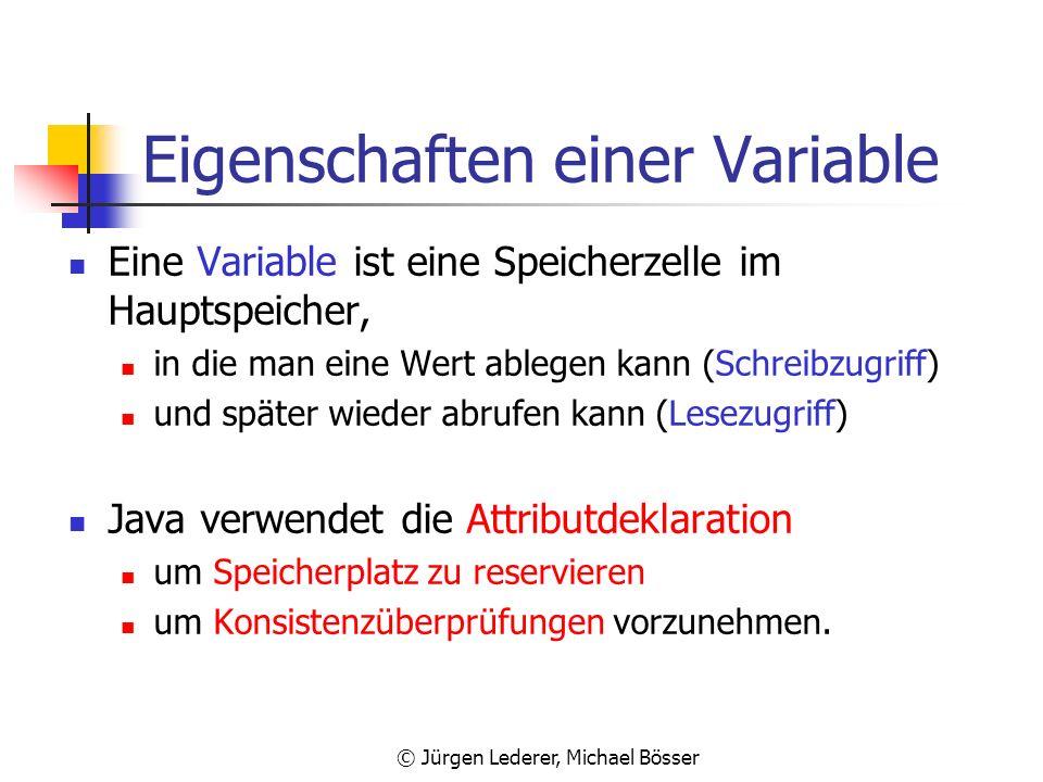 © Jürgen Lederer, Michael Bösser Veranschaulichung einer Variable