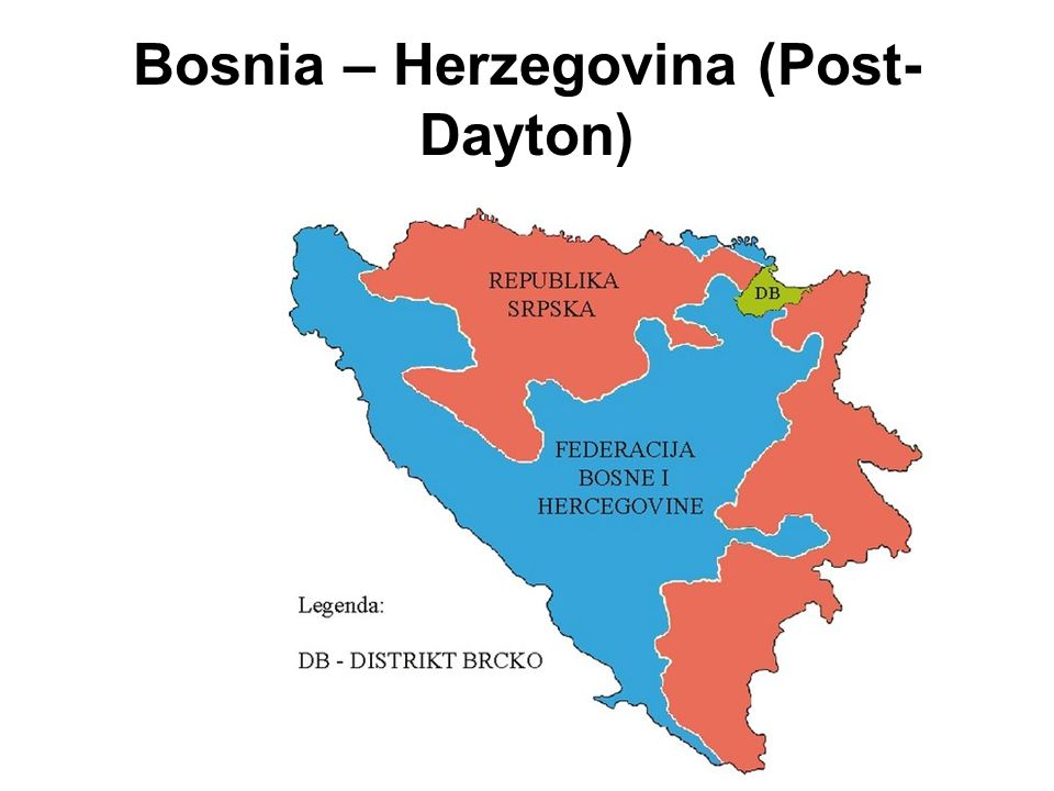 Bosnia – Herzegovina (Post- Dayton)