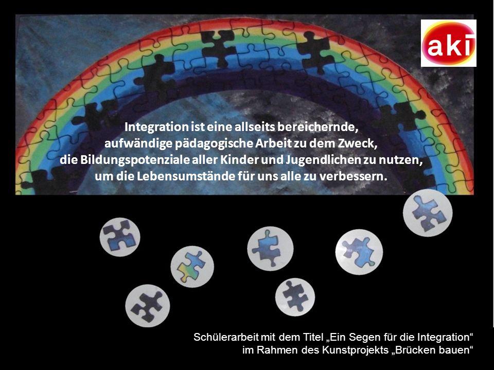 25 Integration ist eine allseits bereichernde, aufwändige pädagogische Arbeit zu dem Zweck, die Bildungspotenziale aller Kinder und Jugendlichen zu nu