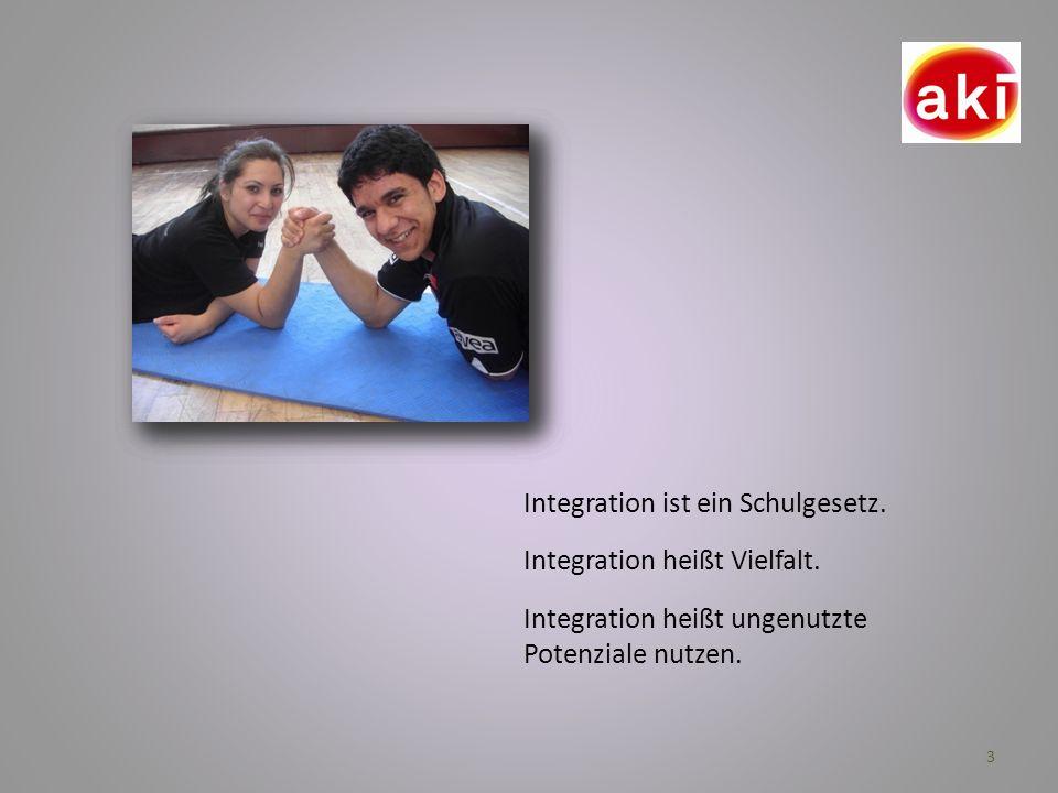 3 Integration ist ein Schulgesetz. Integration heißt Vielfalt. Integration heißt ungenutzte Potenziale nutzen.