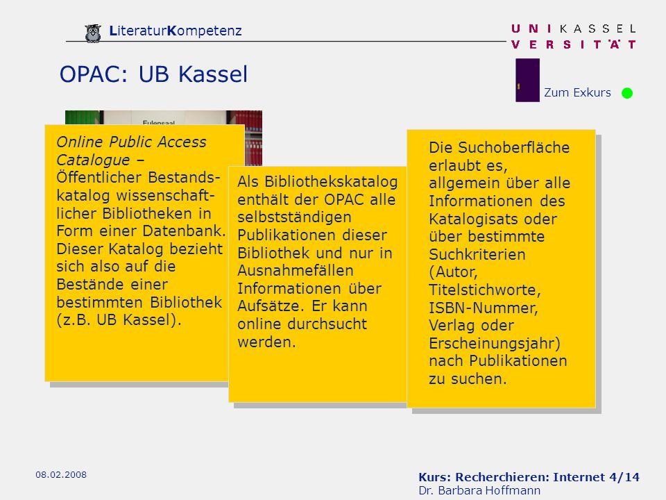 Kurs: Recherchieren: Internet 45/14 Dr.