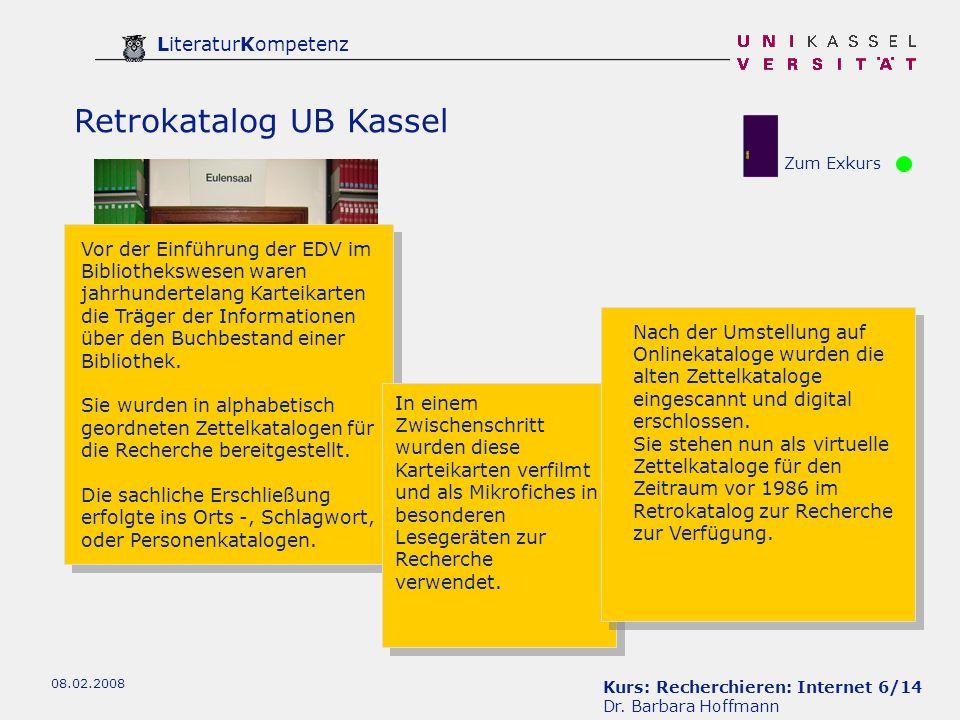 Kurs: Recherchieren: Internet 27/14 Dr.