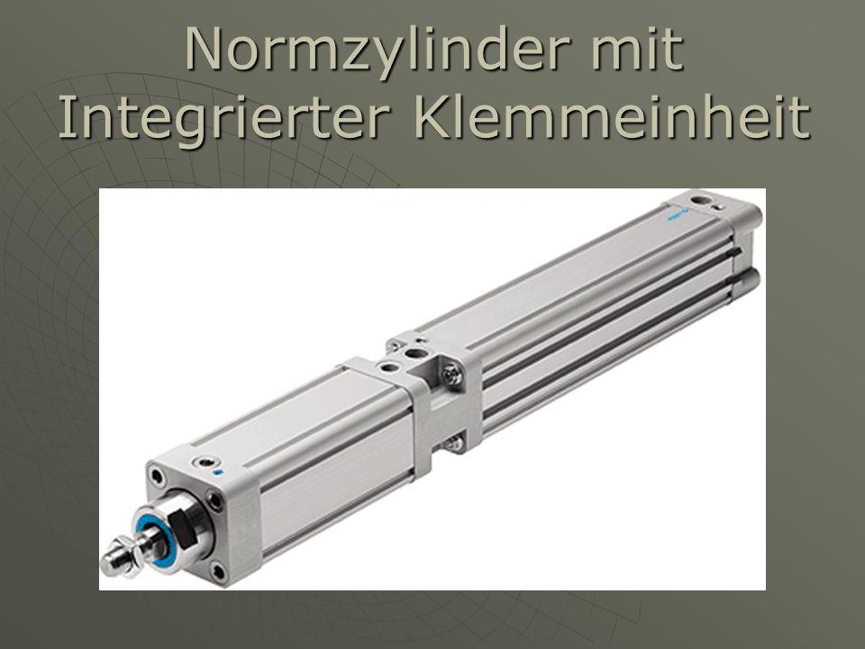Normzylinder mit Integrierter Klemmeinheit