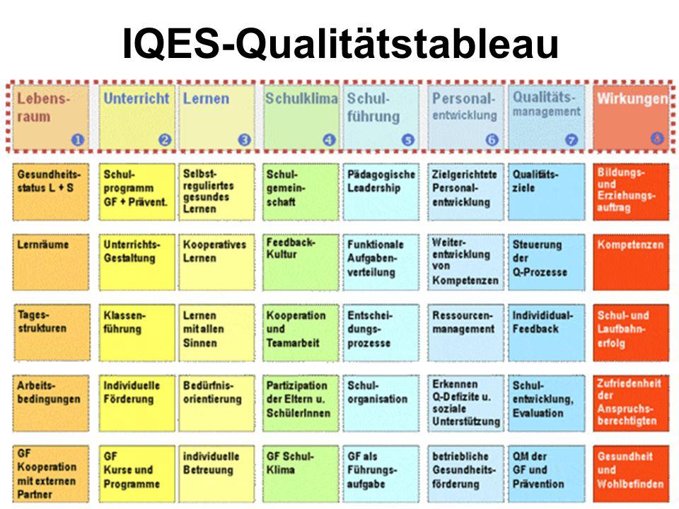 IQES-Qualitätstableau
