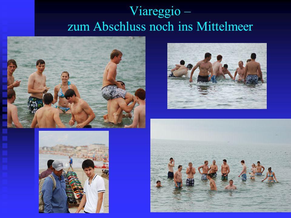 Viareggio – zum Abschluss noch ins Mittelmeer