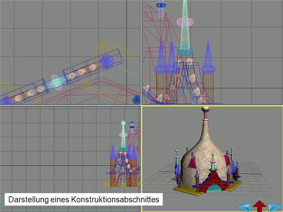 Darstellung eines Konstruktionsabschnittes
