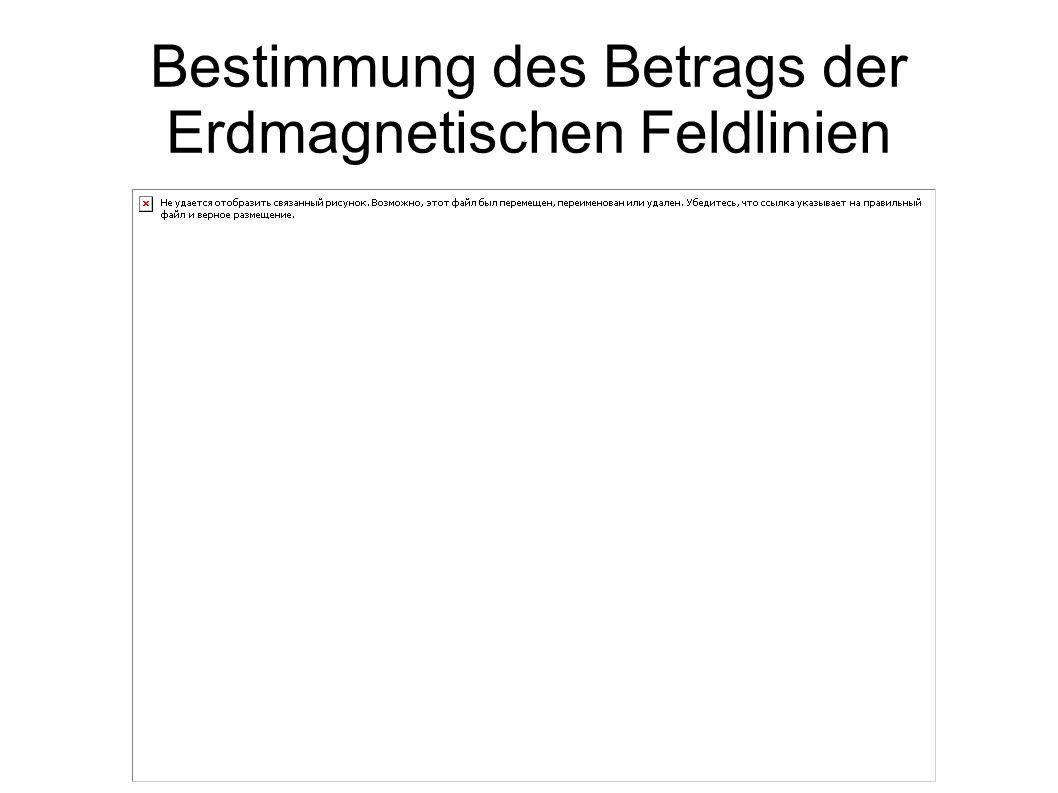 Bestimmung des Betrags der Erdmagnetischen Feldlinien