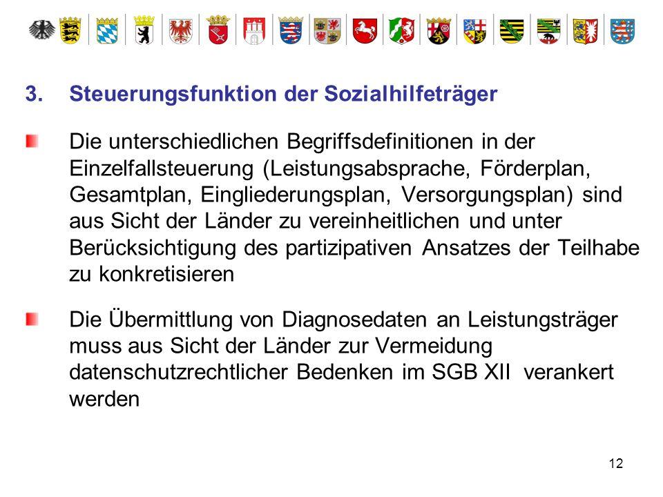 12 3.Steuerungsfunktion der Sozialhilfeträger Die unterschiedlichen Begriffsdefinitionen in der Einzelfallsteuerung (Leistungsabsprache, Förderplan, G