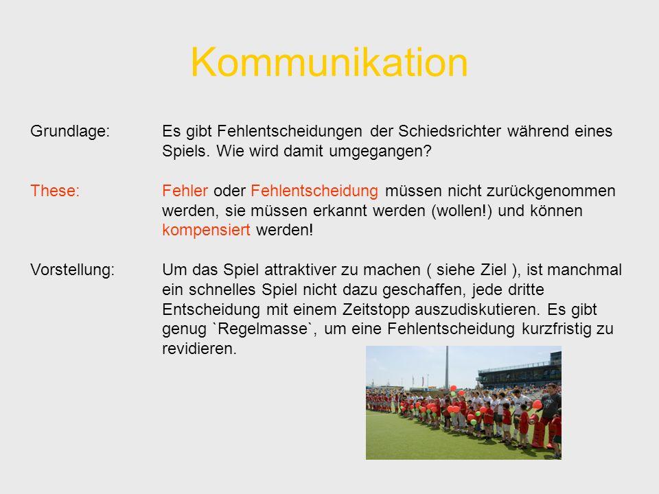 Kommunikation Grundlage: Es gibt Fehlentscheidungen der Schiedsrichter während eines Spiels.