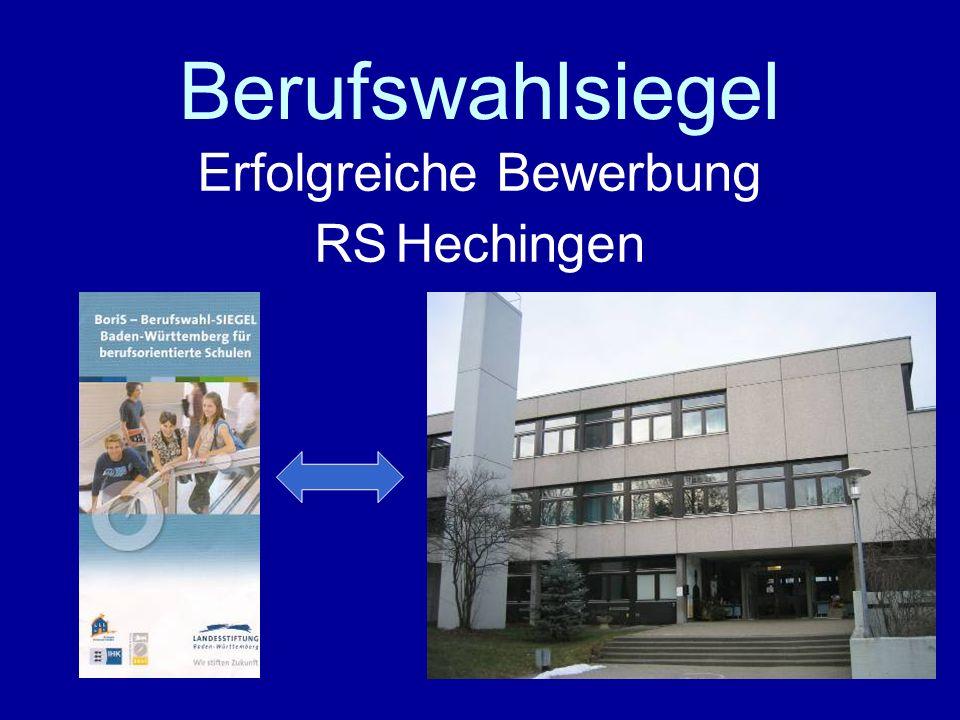 1 Berufswahlsiegel Erfolgreiche Bewerbung RS Hechingen