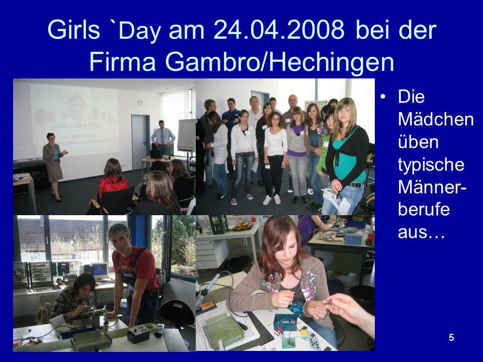 16 Besuch des BIZ in Balingen Einweisung durch die Berufsberaterin Frau Pfersich in die EDV- Arbeitsplätze.