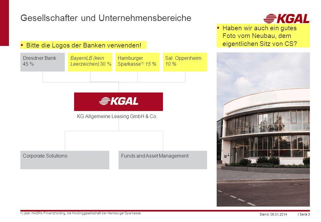 I Seite 3Stand: 06.01.2014 Gesellschafter und Unternehmensbereiche 1) über HASPA Finanzholding, die Holdinggesellschaft der Hamburger Sparkasse Dresdn