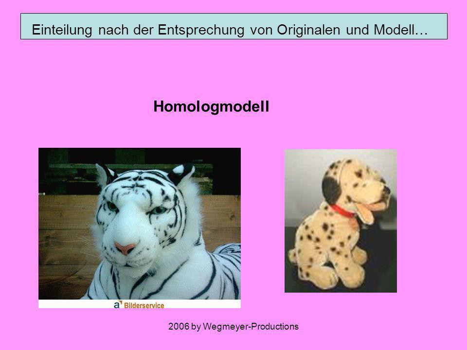 2006 by Wegmeyer-Productions Einteilung nach den abgebildeten Eigenschaften… Funktionsmodell (Dynamik) Strukturmodell (Statik)
