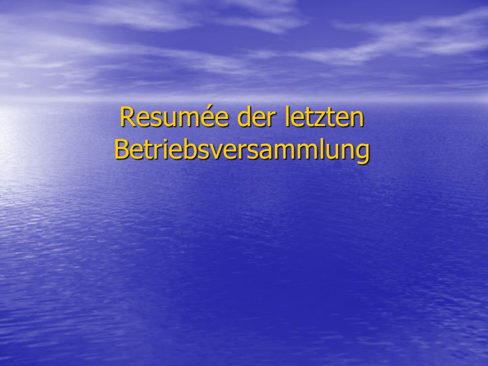 TOP 7:Bericht der Geschäftsleitung