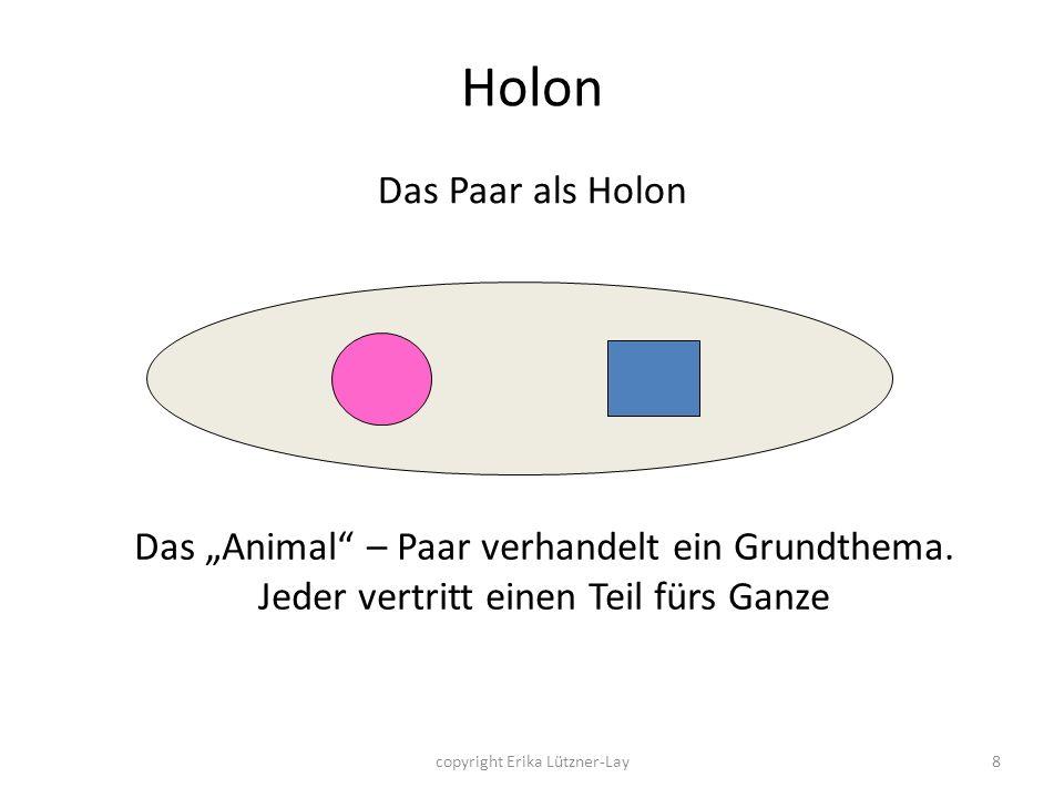 copyright Erika Lützner-Lay8 Holon Das Paar als Holon Das Animal – Paar verhandelt ein Grundthema. Jeder vertritt einen Teil fürs Ganze
