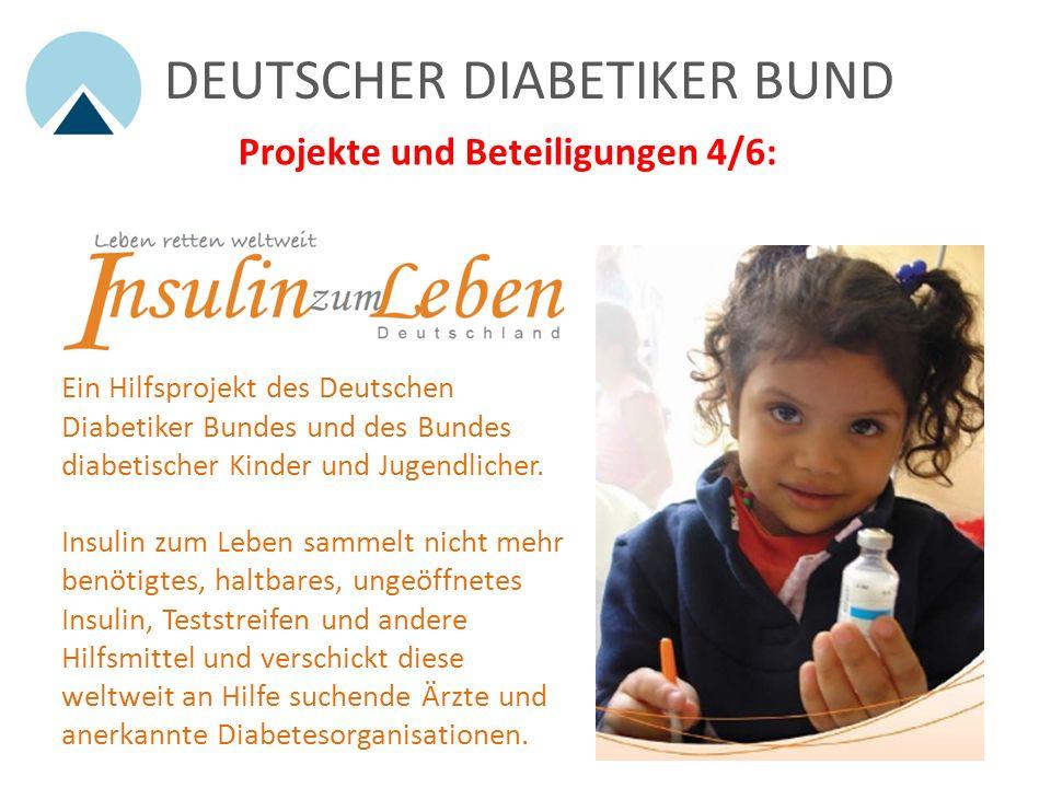 DEUTSCHER DIABETIKER BUND Projekte und Beteiligungen 3/6: Tel: 0900 1001104 (0,60 /Min aus dem deutschen Festnetz) Professionelle, familientherapeutis