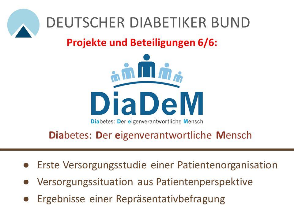 Diabetikerstiftung - Mittelpunkt Mensch Mit seiner Stiftung fördert der Deutsche Diabetiker Bund, u.a. Forschungen zur Lebensqualität und Versorgung v