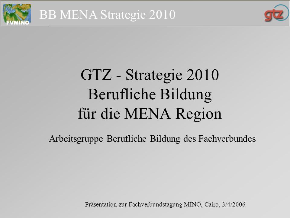 BB MENA Strategie 2010 Die MENA Region - 24 Länder: Bevölkerung 500 Mio.