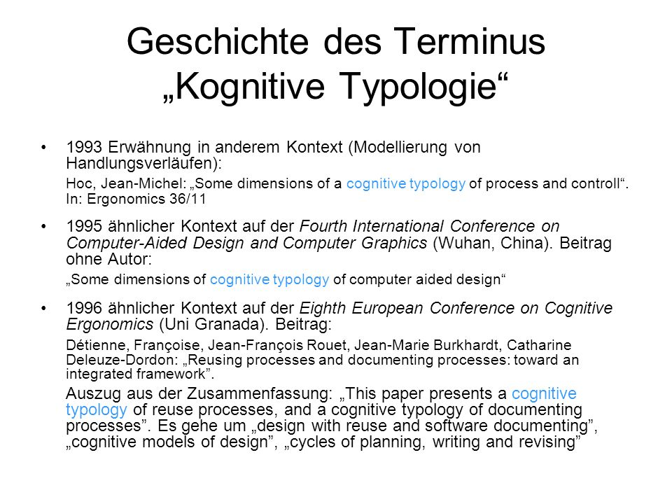 Unterbereiche der KogTyp 1.